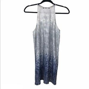 Forever 21 blue ombré sleeveless shift dress XS
